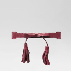 Tassel Bow Bordeaux