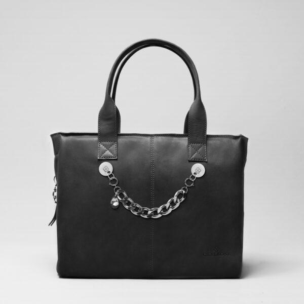 chalrose-city-bag-deep-black-bracelet