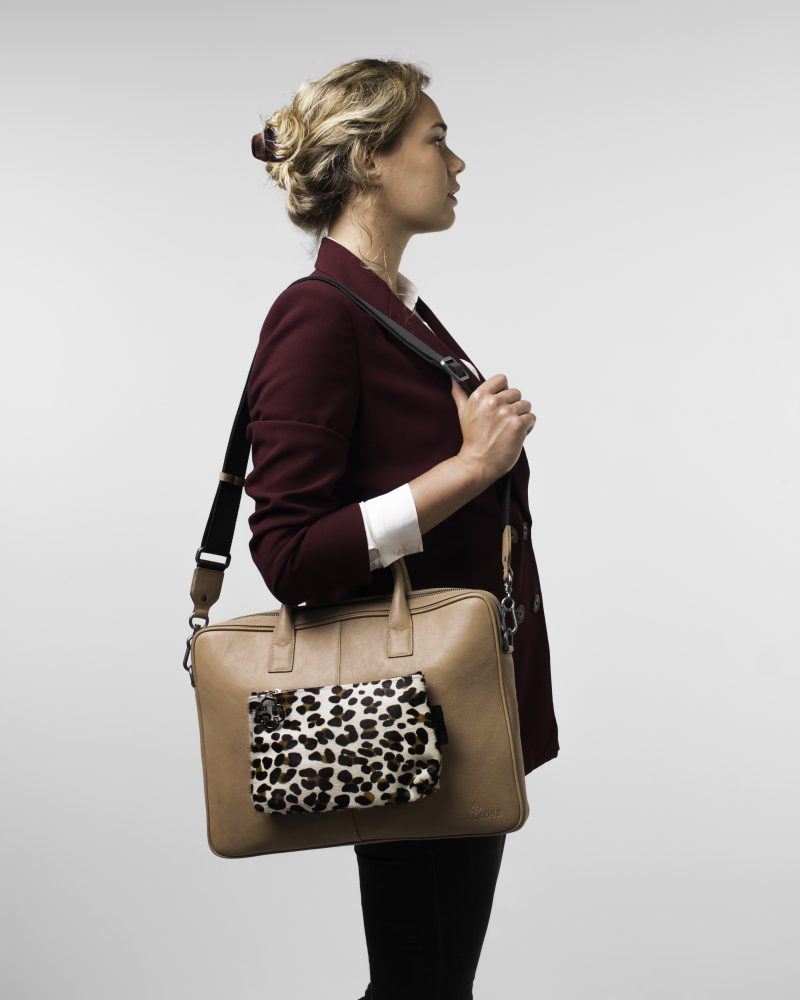 Laptopbag + Leopard Pouch