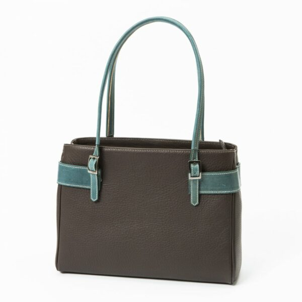chalrose-medium-bag-dark-brown-hengsel-green