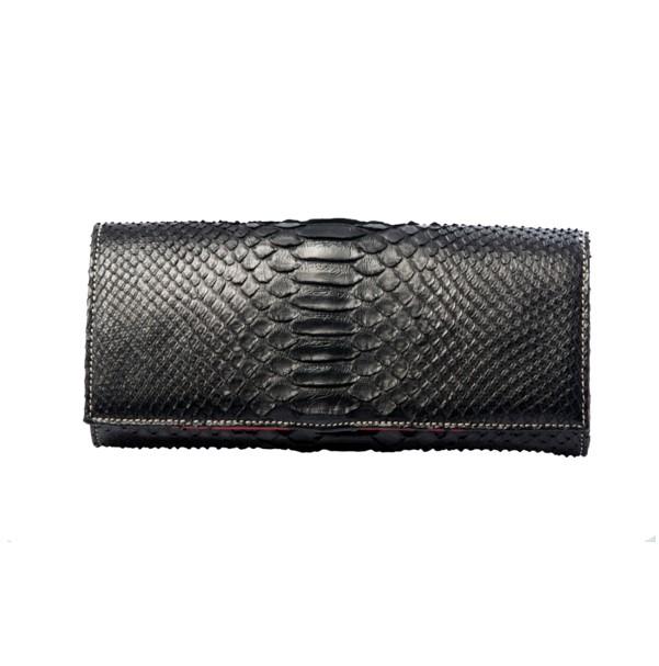 chalrose-python-black zwarte python tas