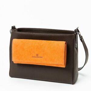 chalrose-clutch-orange-medium-bag-zwart