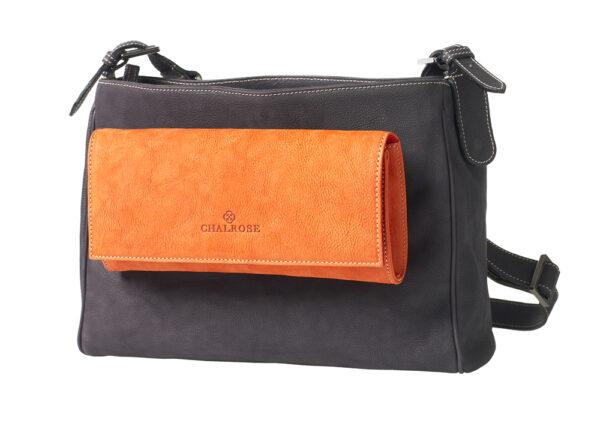 chalrose-medium-bag-black-clutch-oranje