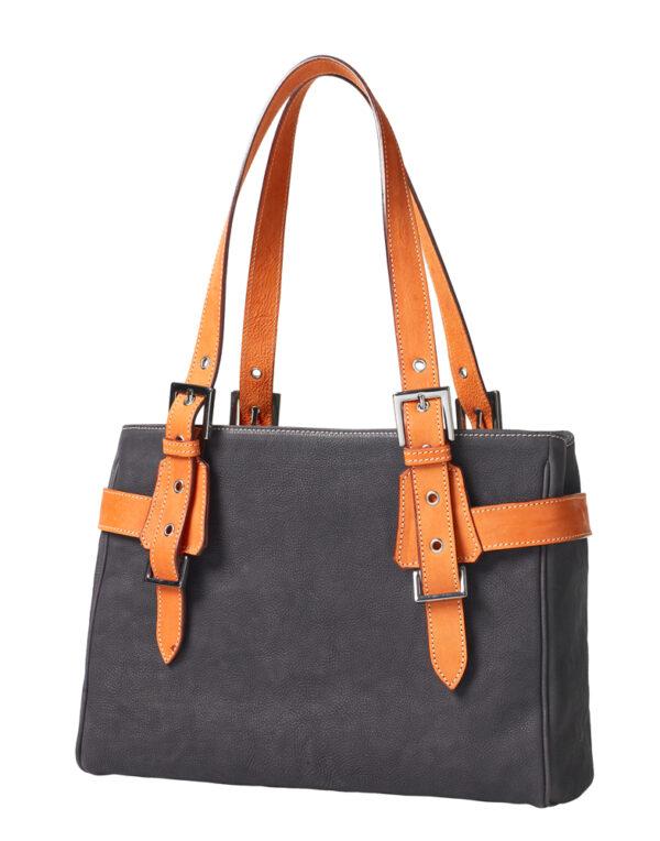 chalrose-medium-bag-black-hengsel-oranje