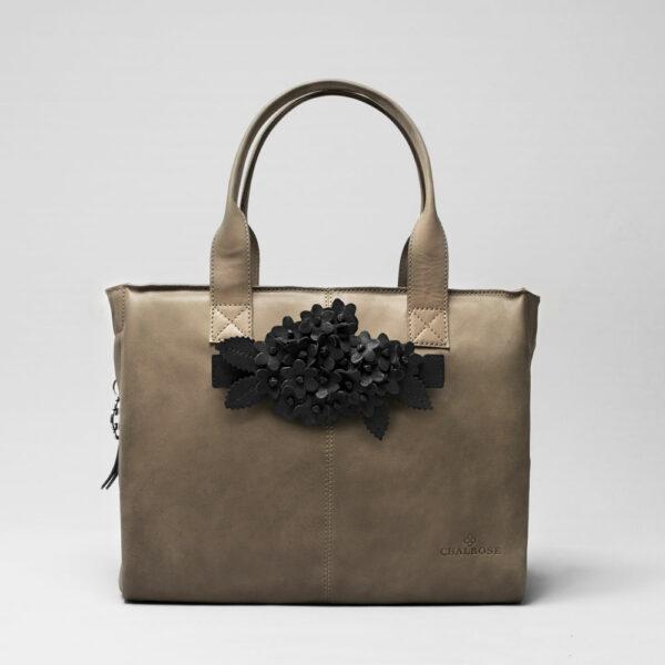 chalrose-click-bouquet-black-matt-city-bag-elephant-grey