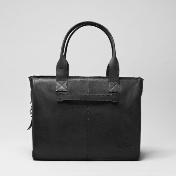 chalrose-city-bag-black-matt leren schoudertas van chalrose