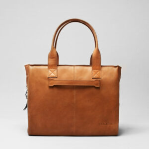 chalrose city bag tan leren schoudertas cognac