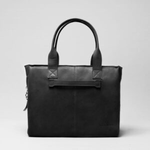 chalrose-city-bag-wax-black leren tas wax black