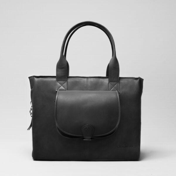 chalrose-city-bag-black-matt-round-flap-bag